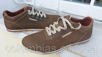 Кожаные оливковые мужские кроссовки