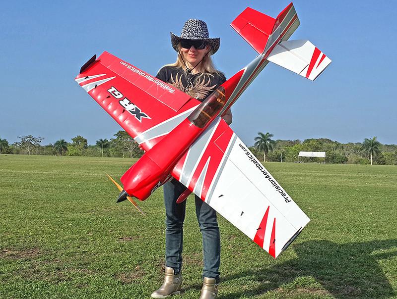 Самолёт р/у Precision Aerobatics XR-61 1550мм KIT (красный) 2711466532483