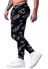 Спортивные брюки в черном цвете от GALAGOWEAR Sweatpants AOP размер L, фото 2