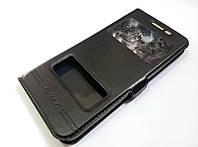 Чехол книжка с окошками momax для Samsung Galaxy J5 Prime g570f black