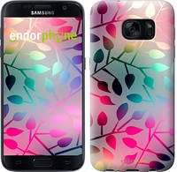 "Чехол на Samsung Galaxy S7 G930F Листья ""2235c-106"""