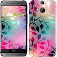 """Чехол на HTC One M8 dual sim Листья """"2235c-55"""""""