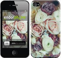 """Чехол на iPhone 4s Букет роз """"2692c-12"""""""
