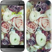 """Чехол на HTC One M8 dual sim Букет роз """"2692c-55"""""""