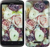"""Чехол на HTC One X Букет роз """"2692c-42"""""""