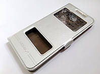Чехол книжка с окошками momax для Samsung Galaxy J5 Prime g570f серебряный