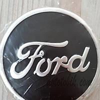 Наклейка эмблема на колпаки Ford 90 мм (4 шт.)