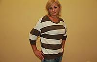Женский свитер в полоску большой размер 3010 Dress Code в Одессе
