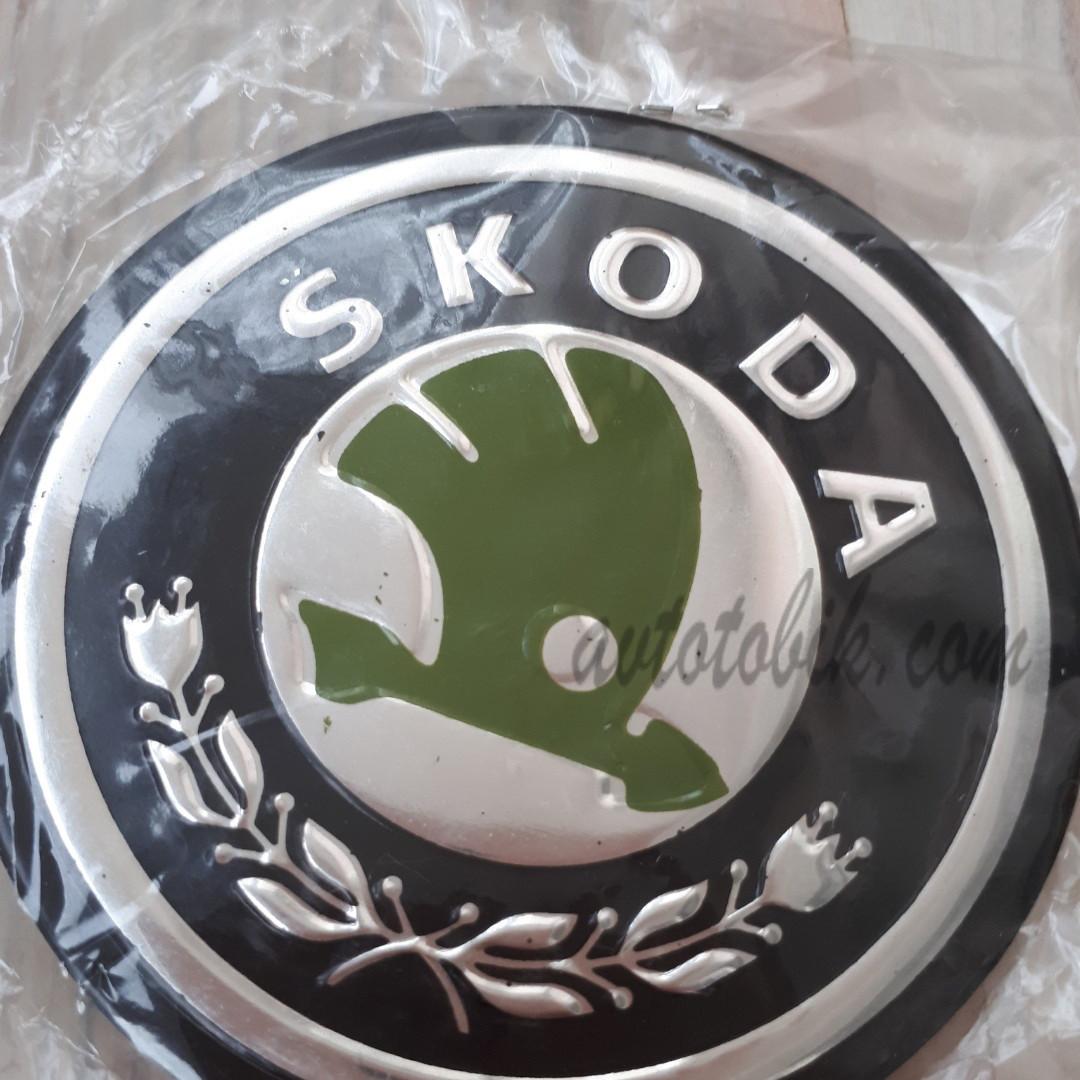 Наклейка эмблема на колпаки Skoda 90 мм (4 шт.)
