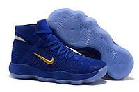 Баскетбольные кроссовки Nike Hyperdunk 2017 Flyknit Blue Gold, фото 1