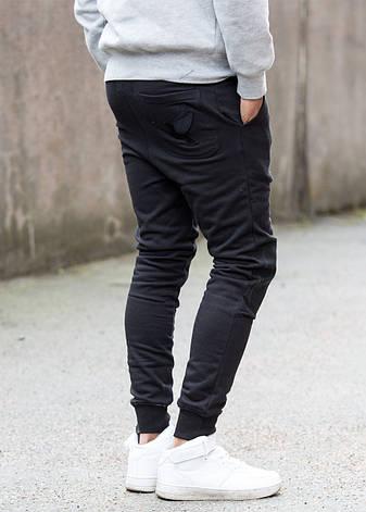 Спортивные брюки в черном цвете от GALAGOWEAR Sweatpants Leather Patch Black размер XL, фото 2