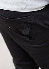 Спортивные брюки в черном цвете от GALAGOWEAR Sweatpants Leather Patch Black размер XL, фото 3