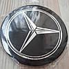 Наклейка эмблема на колпаки Mercedes 90 мм (4 шт.)