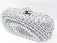 Женский праздничный клатч 7777 серебро праздничный клатч недорого Одесса 7 км, вечерний клатч