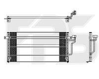 Радиатор кондиционера Mitsubishi Lancer Митсубиси Лансер , FP48K415X Hella