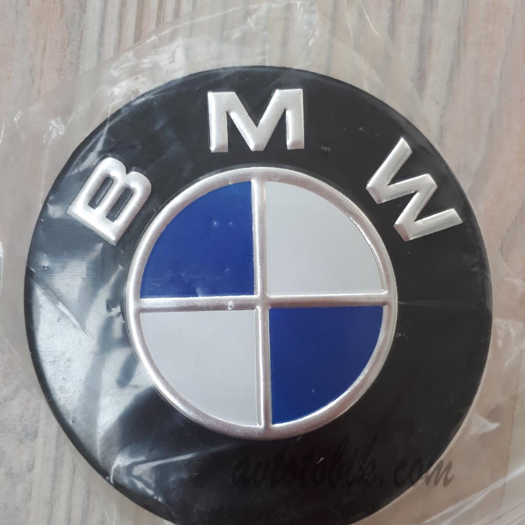 Наклейка эмблема на колпаки BMW 90 мм (4 шт.)