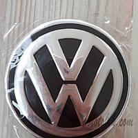Наклейка эмблема на колпаки Volkswagen 90 мм (4 шт.)