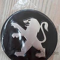 Наклейка эмблема на колпаки Peugeot 90 мм (4 шт.), фото 1