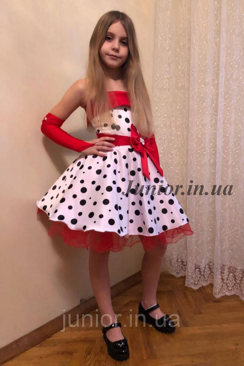b54cbc0646f Нарядное платье в горох для девочки.Стиляги. - Оптово-розничный  интернет-магазин