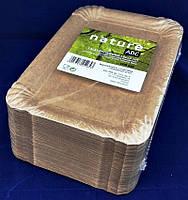 Тарелка-поднос бумажная  NATURE 13*20см уп 100шт