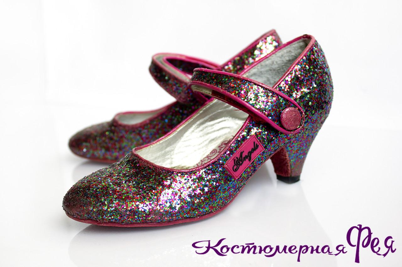 Туфли детские на каблучке (артикул №99)