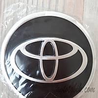 Наклейка эмблема на колпаки Toyota 90 мм (4 шт.), фото 1