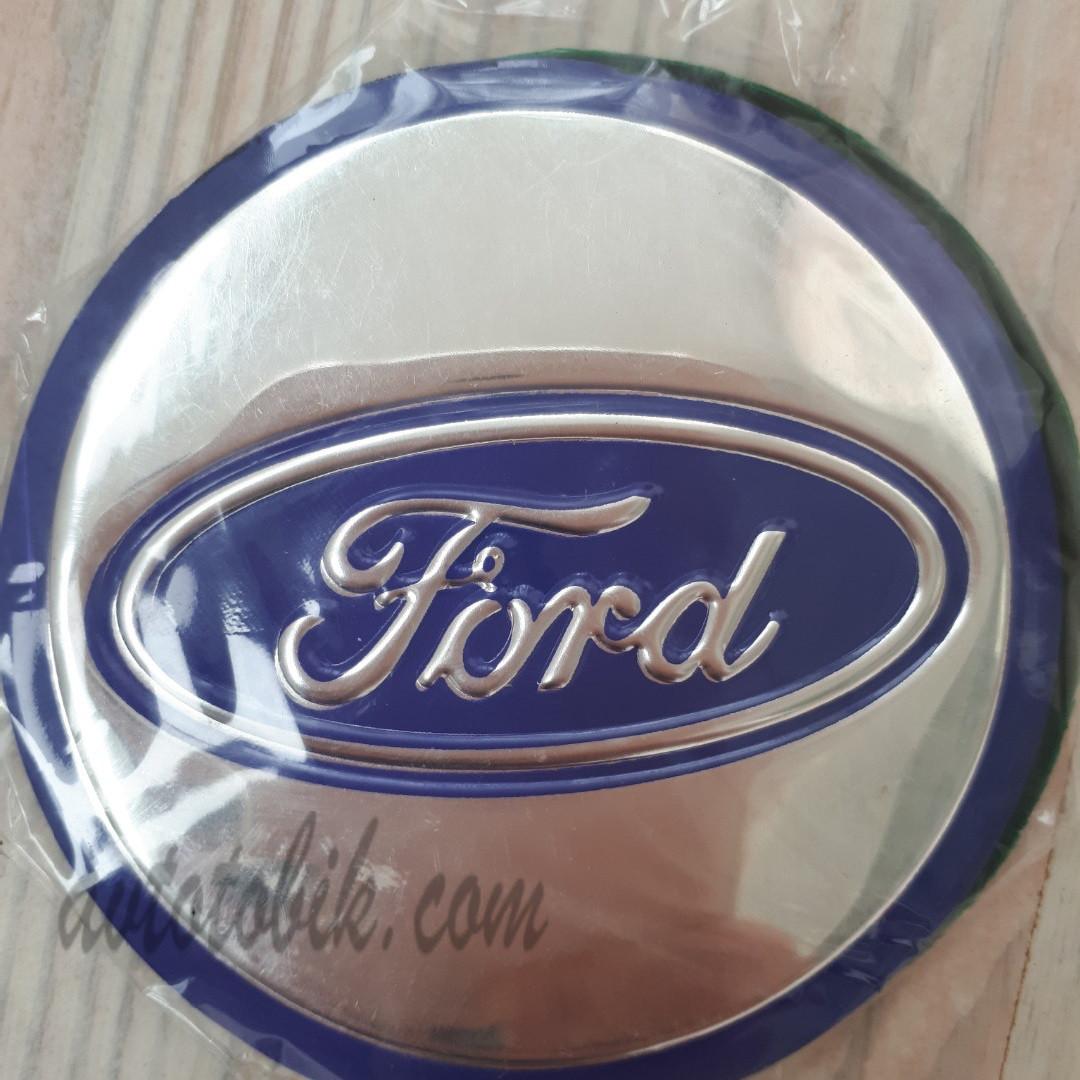 Наклейка эмблема на колпаки Ford 84 мм (4 шт.)