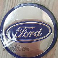 Наклейка эмблема на колпаки Ford 84 мм (4 шт.), фото 1