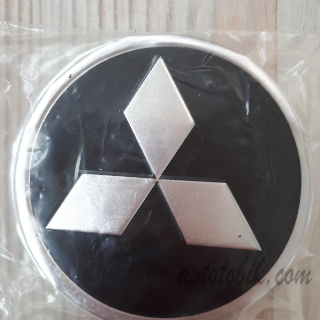 Наклейка эмблема на колпаки Mitsubishi 90 мм (4 шт.)