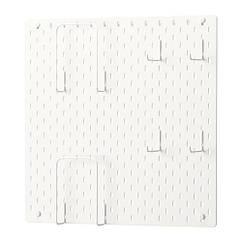 Полка IKEA SKÅDIS 56x56 см комбинация перфорированных досок белая 392.170.65