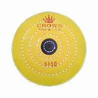 Круг полировальный муслиновый желтый с кожаным пятаком d-150 мм. 50 слоев