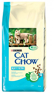 Cat Chow (Кэт Чау) Kitten Сухой корм для котят с курицей, 400 г