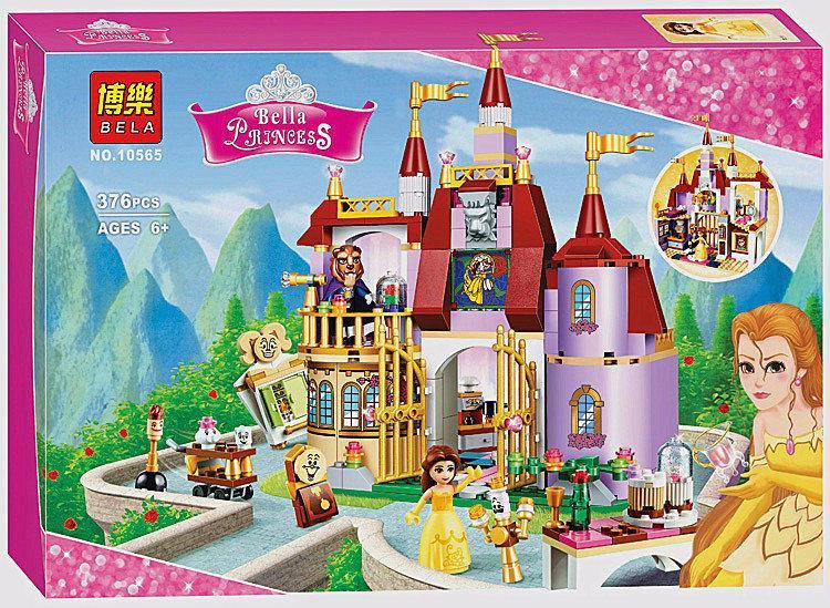 """Конструктор Bela Disney 10565 """"Зачарований замок Белль"""" 376 деталей."""