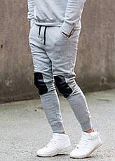 Спортивные брюки в сером цвете от GALAGOWEAR Leather Patch Grey Melange размер L, фото 3