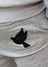 Спортивные брюки в сером цвете от GALAGOWEAR Leather Patch Grey Melange размер L, фото 2