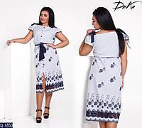 Летнее платье ткань прошва на бретелях легкий сарафан р. 50,52,54,56