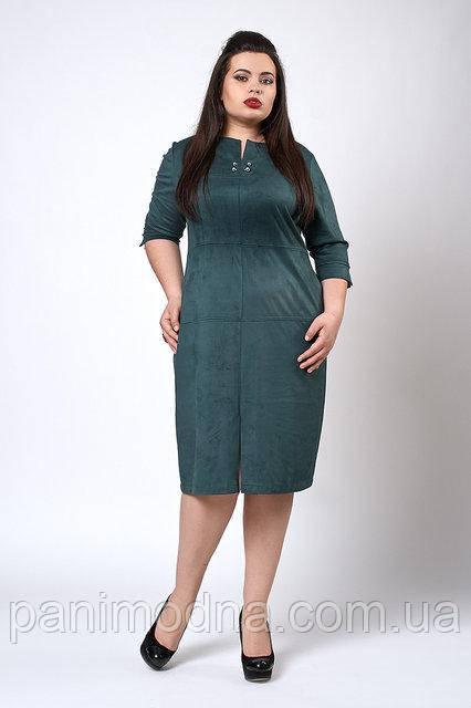 Платье женское Замшевое. Новинка. Модно, фото 1