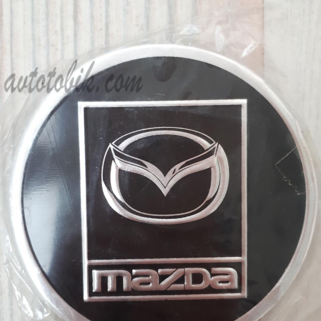 Наклейка эмблема на колпаки Mazda 90 мм (4 шт.)