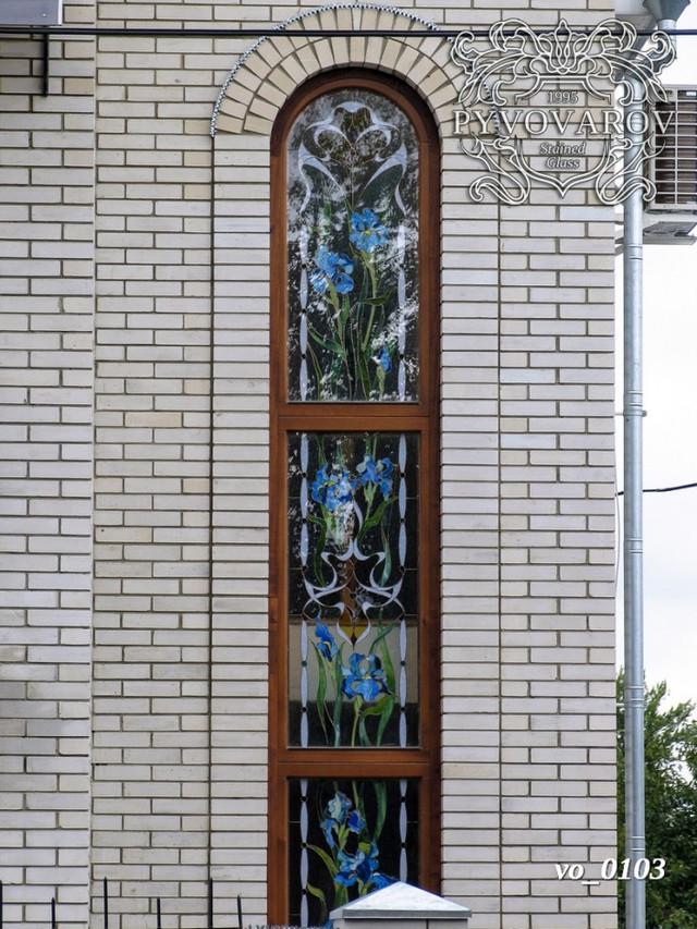 Витражи цветы в окна