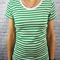 Стильная женская футболка тельняшка хлопок