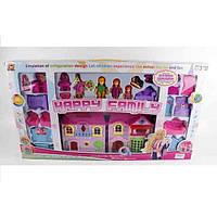 Домик для кукол Happy Family с мебелью и фигурками свет, звук KB99-8