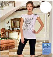 Комплект домашний, комплект для дома,Комплект сна, Комплект домашний женский, комплект футболка+капри S/M-L/XL