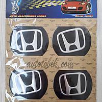 Наклейка эмблема на колпаки Honda 90 мм (4 шт.), фото 1