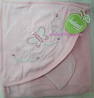 Полотенце для купания с капюшоном+рукавичка, махра р-р 90*90 см арт.2395