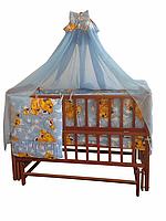 Полный комплект в кроватку Медвежата 7 эл