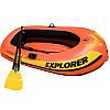 Двухместная надувная лодка lntex + пластиковые весла и мини-ручной насос Explorer 200 185x94x41 cм (58331), фото 2