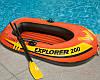 Двухместная надувная лодка lntex + пластиковые весла и мини-ручной насос Explorer 200 185x94x41 cм (58331), фото 4