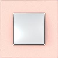 Рамка Schneider-Electric Unica Quadro 1-пост Розово-жемчужный MGU4.702.37