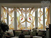 Витражи на окна абстракция