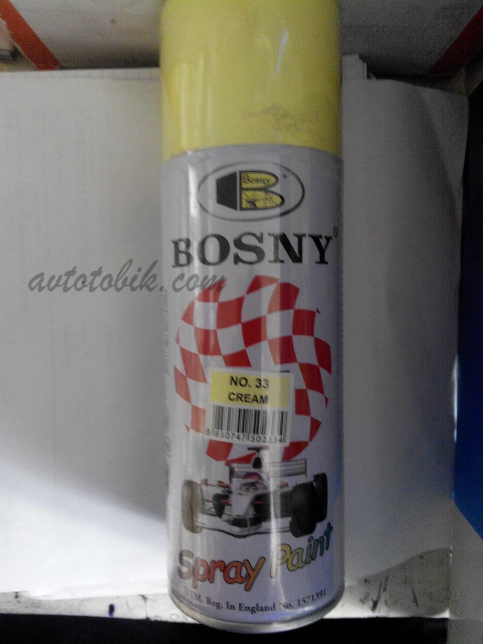 Акриловая аэрозольная спрей-краска BOSNY NO. 33 CREAM (кремово-желтый), 400мл
